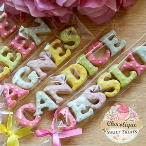 mini letters cookies very cute party favor or place With letter cookies