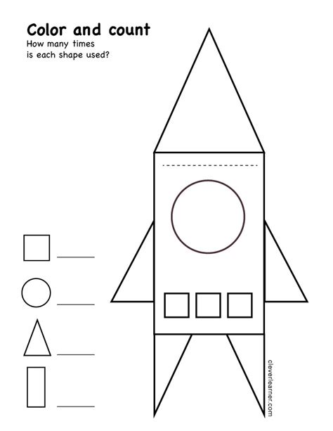 free triangle shape activity worksheets for school children 402 | color and count the shapes preschool worksheet print 3