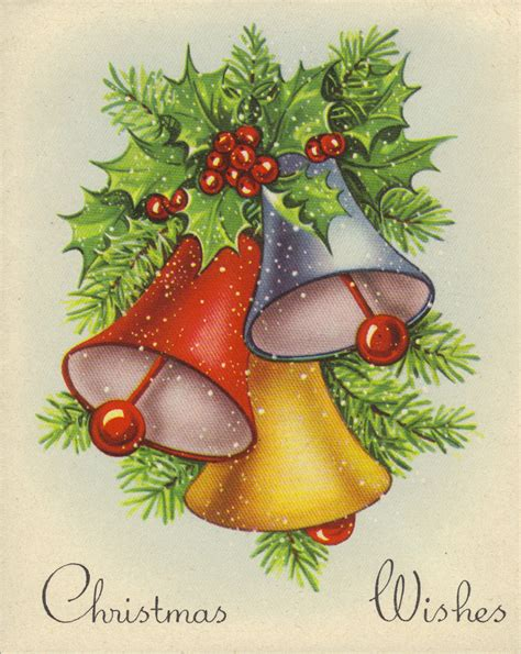 classic christmas belles vintage christmas cards christmas bells christmas