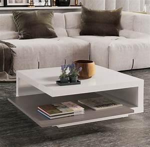 Table Blanche Et Grise : table basse carr e blanche et grise modulable key ~ Teatrodelosmanantiales.com Idées de Décoration