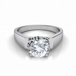 flat edge diamond engagement ring With flat wedding rings with diamonds