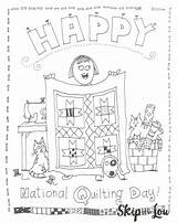 Coloring Quilting National Pages Printable Sheet Birthday Sweet Template Lou Printables Skiptomylou Skip sketch template