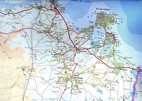 Distance Entre Hammamet Et Tunis by Carte Du Sud De Tunisien Distances Entre Les Villes Et Gps