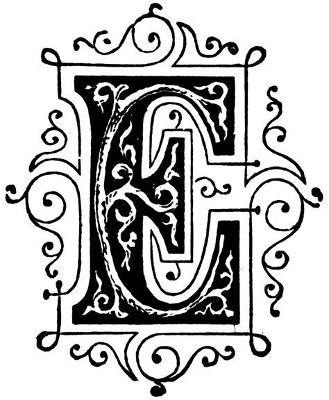 letter e e ornamental letter letter e fancy letters letter e and letter c