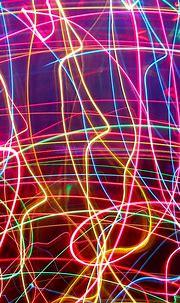 938x1668 Wallpaper neon, lines, plexus, light, bright ...