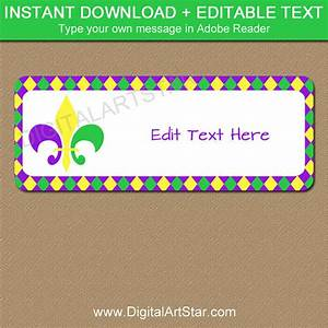 mardi gras address label template instant download return With instant address labels