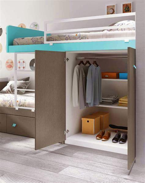 lit superposé avec lit superposé avec bureau pour la chambre enfant
