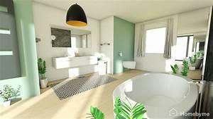 Plan 3d Salle De Bain : essai 3d une salle de bain au vert le journal de la maison ~ Melissatoandfro.com Idées de Décoration