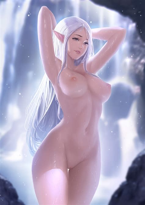 Elf In Summer Nude By Gatery Hentai Foundry