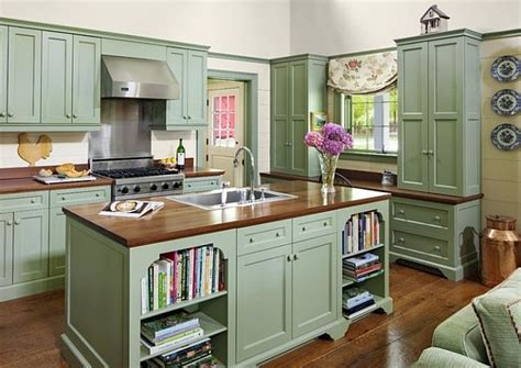 green painted kitchen cabinets add a touch of vintage charm to your kitchen with painted