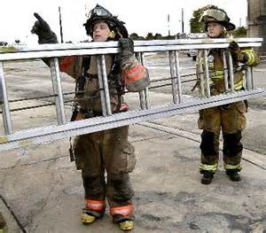 Female Firefighters Training