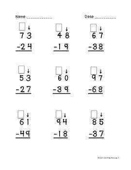 touch math single digit addition worksheet touch math digit subtraction worksheets by s