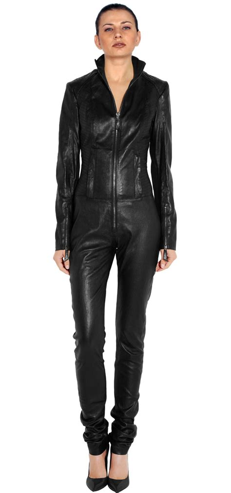 leather jumpsuits buy business pattern lambskin leather jumpsuit