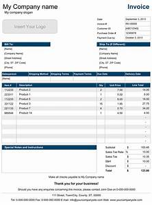 sales invoice template for excel With product invoice template