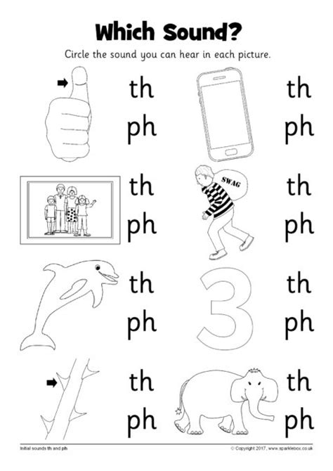 which sound worksheet th and ph sb12237 sparklebox