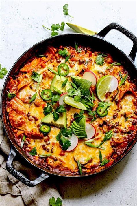 skillet vegetarian enchiladas  peas  pod