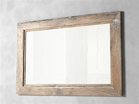 with wooden frame mirror wooden frame