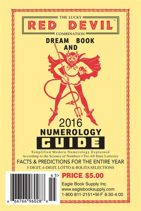 2016 Lucky Red Devil Combination Dream Book & Numerology