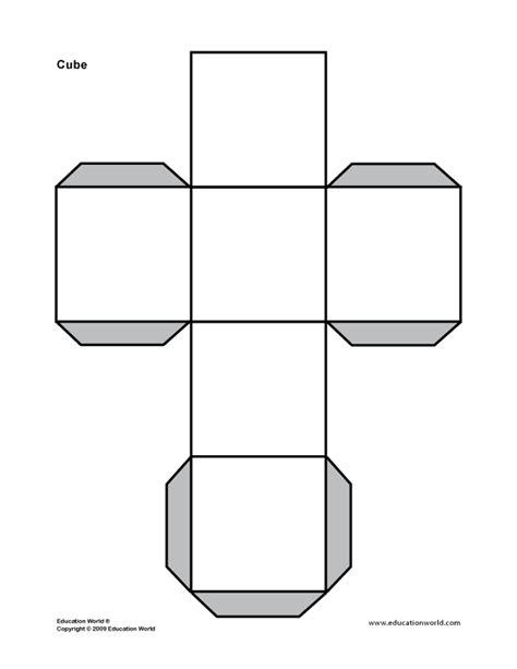 Cube Template 3d Shape Cube Printable Math