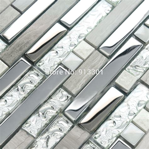 Metallic Tiles South Africa by Glass And Metal Backsplash Cheap Stainless Steel Kitchen