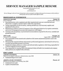 automotive service manager resume sample resume ideas With automotive service manager resume templates