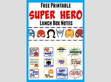 Free Printable Superhero Lunch Box Notes Bear Hugs And