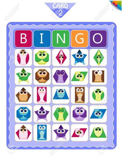 preschool shape bingo printable