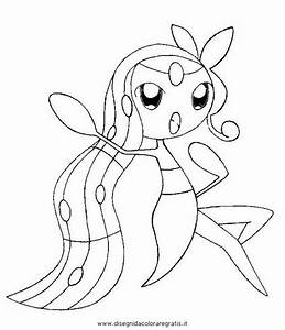 Free coloring pages of meloetta