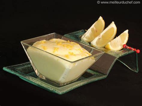 mousse au citron fiche recette avec photos