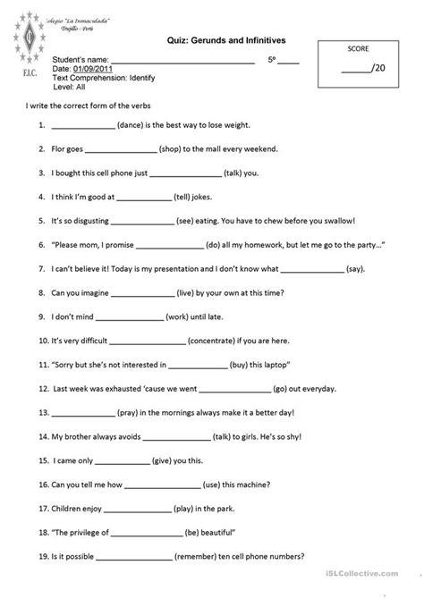 Gerunds And Infinitives Worksheet  Free Esl Printable Worksheets Made By Teachers