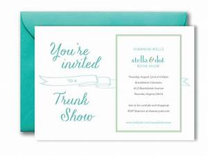 17 best images about trunk show invite ideas on pinterest With stella and dot invitation templates