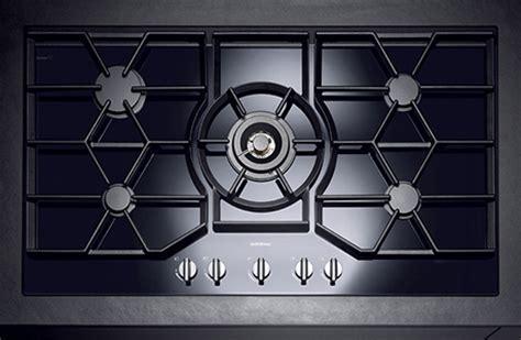 Gaggenau gas cooktop in black glass