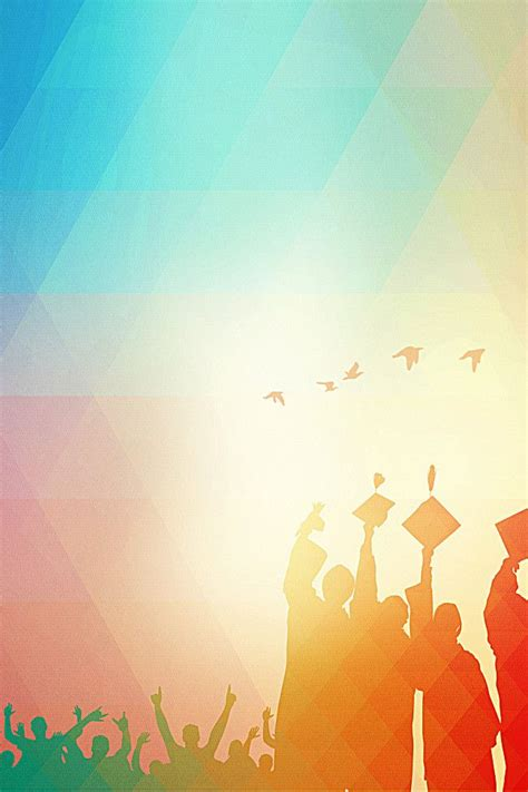 graduation party poster background material seasons