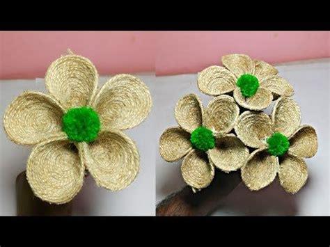 How to Make Jute Flower // DIY Rope Flower // Jute Crafts