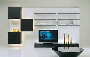 living room design with contemporary shelves furniture With shelving designs for living room