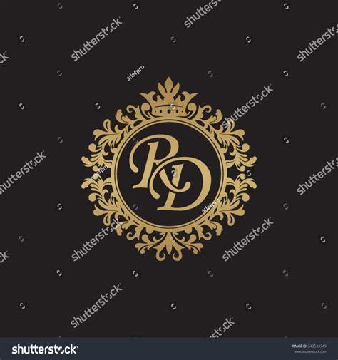 rd initial luxury ornament monogram logo stock vector 343533749