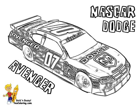 nascar race car coloring pages coloring page