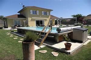 Escalier Pour Piscine Hors Sol : piscine hors sol acier et bois fabrication fran ais 6m x ~ Dailycaller-alerts.com Idées de Décoration