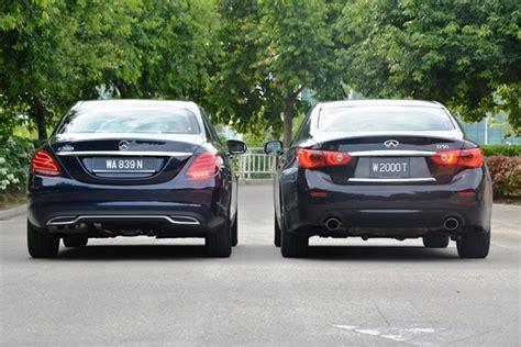 Mercedesbenz C 200 Vs Infiniti Q50 Turbo Autoworldcommy