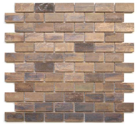Wall Tile Sheets by Medium Brick Antique Copper Mosaic Tile Sheet