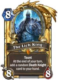 deck hearthstone lich king the lich king hearthstone wiki