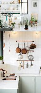 attic apartment on pinterest apartments attic bedrooms With kitchen colors with white cabinets with copper pipe candle holder