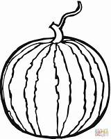 Coloring Watermelon Whole Supercoloring Printable Drawing sketch template