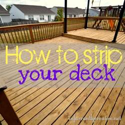 how to strip a deck infarrantly creative