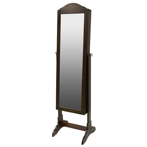 jewelry cabinet mirror shop chocolate cheval mirror jewelry armoire at lowes