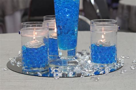 blue centerpiece blue wedding centerpieces for creating romantic wedding atmosphere ipunya