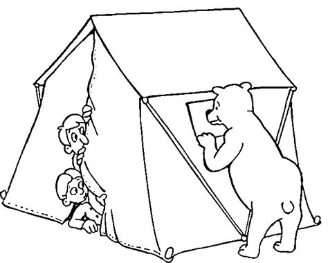 fun coloring pages camping coloring pages