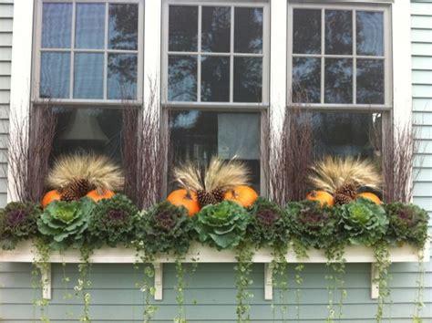 window decorations for fall beautiful fall window box window boxes pinterest