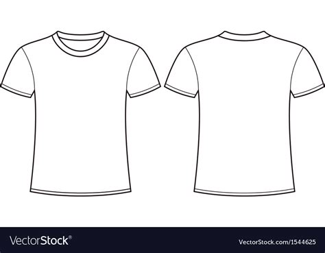 T Shirt Blank Template blank t shirt template front and back royalty free vector