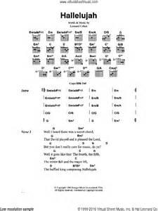 Buckley - Hallelujah sheet music for guitar (chords)